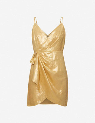Sandro Nia metallic woven mini dress