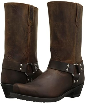 Old West Boots Harness Boot (Brown Distressed) Women's Lace-up Boots