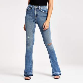 River Island Womens Mid Blue bootcut jeans