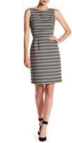 Tahari Ikat Print Jacquard Sheath Dress