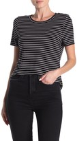 Good American Striped Crew Neck T-Shirt (Regular & Plus Size)