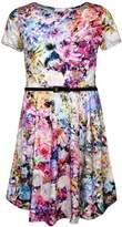 a2z4kids Kids Girls New Floral Abstract Print Midi Dress, & Legging Age 7-13