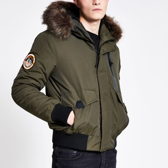 Superdry Mens River Island Khaki Everest bomber jacket