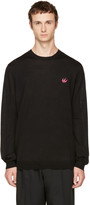 McQ by Alexander McQueen Black Swallow Patch Pullover