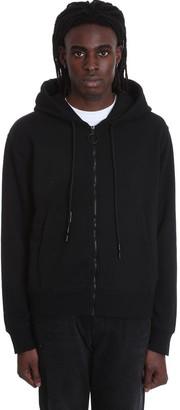 Off-White Wavy Line Sweatshirt In Black Cotton