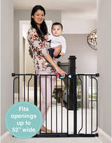 Regalo Easy Step Extra Wide Black Metal Walk-Through Gate