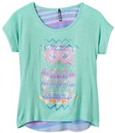 Girls 7-16 & Plus Size Insta Girl High-Low Glitter Graphic Tee