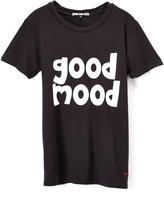 Peace Love World Black 'Good Mood' Tee - Girls
