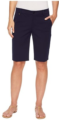 Lauren Ralph Lauren Stretch Cotton Shorts (Navy) Women's Shorts