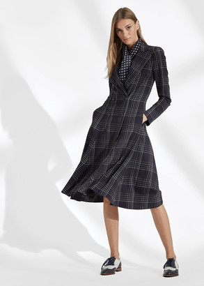 Ralph Lauren Zoie Plaid Wool Day Dress