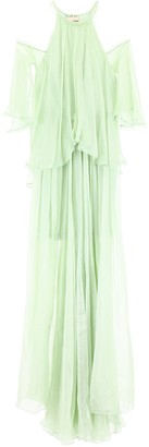 Maria Lucia Hohan Draped Cold-Shoulder Gown