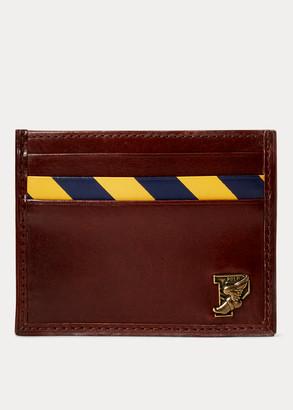 Ralph Lauren Repp-Stripe Leather Card Case