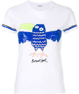 P.A.R.O.S.H. sequinned bird embroidery T-shirt
