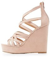 Charlotte Russe Strappy Platform Wedge Sandals