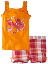 Kids Headquarters Girls 2-6X 2 Piece Set Top With Shorts