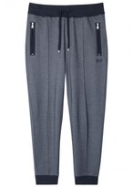 Boss Navy Cotton Blend Jogging Trousers