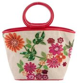 Isabella Fiore Embellished Floral Tote w/ Tags