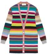 Gucci Oversize striped cashmere knitted