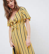 New Look Petite Stripe Tie Front Jumpsuit
