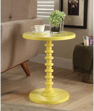 Alcott Hill Stutz End Table Color: Red