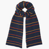 John Lewis Two Way Stripe Scarf, Navy