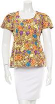 Marc Jacobs Silk Floral Print Top