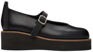 Y's Ys Black Platform Mary Jane Oxfords
