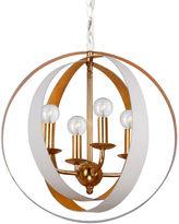 Crystorama Luna 4-Light Sphere Chandelier, White