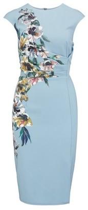 Dorothy Perkins Womens Little Mistress Multi Colour Floral Print Bodycon Dress