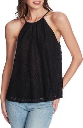 1 STATE Lace Halter Neck Top