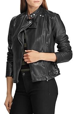 Ralph Lauren Ralph Burnished Leather Moto Jacket