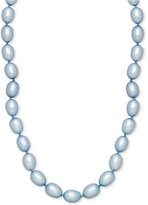 Honora Style Sky Blue Cultured Freshwater Pearl Strand in Sterling Silver (7-8mm)