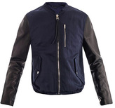 Acne Brando leather sleeve jacket