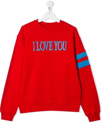 Alberta Ferretti Kids Long Sleeve Printed Slogan Sweater