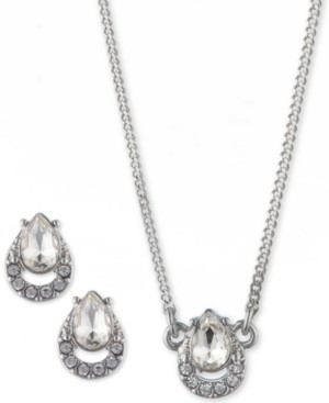 """Givenchy 2-Pc. Set Crystal Earrings & Pendant Necklace, 16"""" + 3"""" extender"""