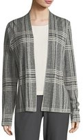 Eileen Fisher Sleek Printed Tencel®/Merino Shaped Cardigan, Plus Size