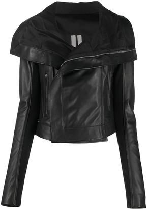 Rick Owens Oversized Collar Leather Jacket