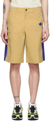 BEIGE ADER error and Blue Panel Shorts