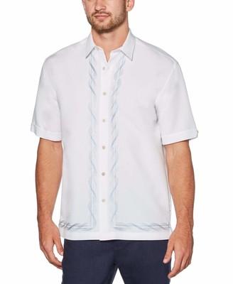 Cubavera L-Shape Swirl Embroidered Shirt