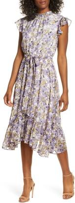Maison Tara Floral Ruffle Dress