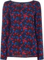Armani Jeans Allover print asymmetric top