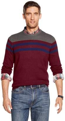 Izod Men's Striped Crewneck Sweater