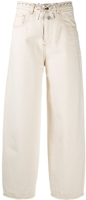 Semi-Couture Beige Balloon-Leg Trousers