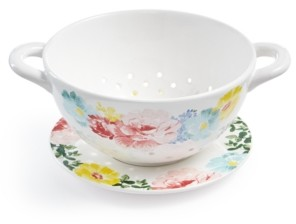 Martha Stewart Collection Garden Party Floral Decal Colander, Created for Macy's