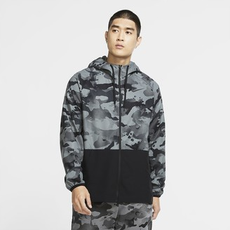 Nike Men's Full-Zip Camo Jacket Pro Flex Vent