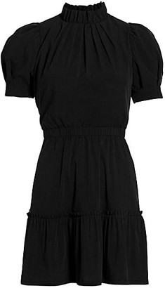 Alice + Olivia Vida Puff-Sleeve Mini Dress