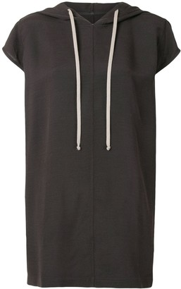 Rick Owens Short-Sleeved Long Hoodie
