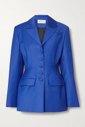 ALEKSANDRE AKHALKATSISHVILI Wool-blend Blazer - Cobalt blue