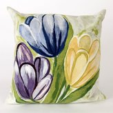 "Liora Manné Tulips Rectangle Indoor/Outdoor Pillow Size: 20"" x 20"", Color: Cool"
