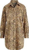 Ralph Lauren Leopard Sateen Sleep Shirt